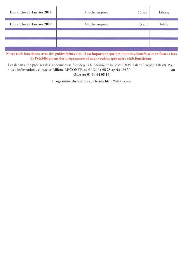 Programme FDM du 21 octobre 2018 au 27 janvier 2019 (2)